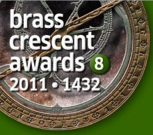 The beautiful Brass Crescent Award...aaaaah...