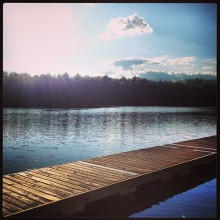 The lake at the retreat site in the Poconos, Pennsylvania. Photo courtesy of Nadia El Khatib.